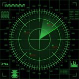Green radar screen Stock Image