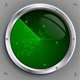 Green radar screen Royalty Free Stock Image