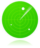 Green radar Stock Image