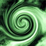 Green Radial Swirl. Green and white radial swirl with dark mixed in - swirled together in an artistic flowing and airy blended painting like design royalty free stock image