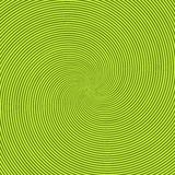 Green radiant background with circular swirl, helix or twist. Backdrop with round optical illusion, hallucination vector illustration
