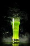 Green Radioactive Alcohol With Biohazard
