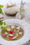 Green radish soup Stock Image