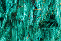 Green ragged silk. PIle of green ragged silk pattern background texture Royalty Free Stock Images