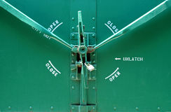 Green Rail Car Lock Royalty Free Stock Photography
