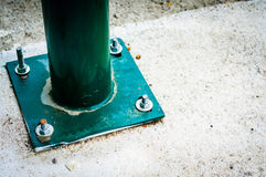Green Railings Detail. Close up detail shot of green railings on a bus stop Royalty Free Stock Photography
