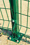 Green Railings Detail Stock Image