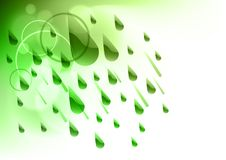 Green rain Royalty Free Stock Image