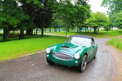 Green rally sports car Royalty Free Stock Photography
