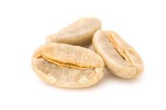 Green raw Arabica coffee beans Royalty Free Stock Photos