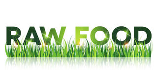 Green Raw Food Message Royalty Free Stock Images