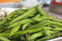 Green raw french beans close-up. Selective focus. Green raw french bean close-up. Selective focus Stock Image