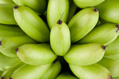 Green Raw Golden Bananas On White Background Healthy Pisang Mas Banana Fruit Food Isolated Royalty Free Stock Images