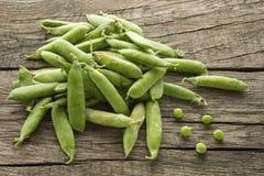 Green raw peas Royalty Free Stock Photos