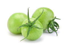 Green raw tomato Royalty Free Stock Photography