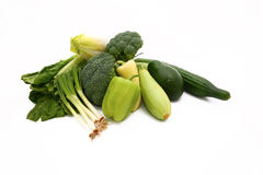 Green raw vegetables Royalty Free Stock Images