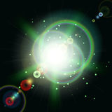 Green ray of a star Vector Stock Photography