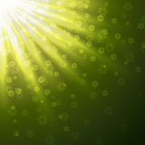 Green rays Stock Images