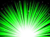 Green rays. Vector illustration of green rays with starts Royalty Free Stock Image