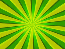 Green Rays Background Stock Images