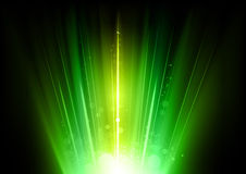 Green rays Stock Photos