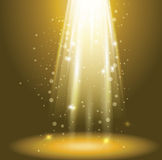 Green rays. Green luminous rays of lights ,whit stars particles Royalty Free Stock Image
