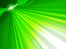 Green Rays Means Light Burst And Glow Stock Photo