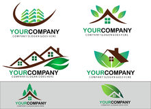 Green real estate logo design Royalty Free Stock Image