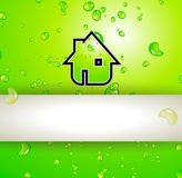 Green Real Estate water drops background Stock Images
