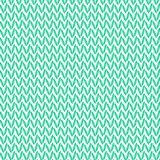 Green realistic knit texture vector pattern.  Stock Photo