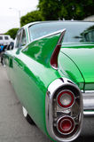 Green rear quarter shot of green low-rider Royalty Free Stock Photos