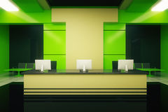 Green reception stand Royalty Free Stock Photos