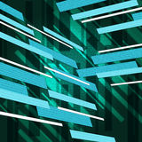 Green Rectangles Background Means Floating Shapes Pattern Stock Photo