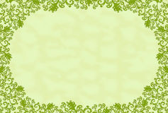 Green rectangular frame with leaf Stock Photography