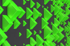 Green rectangular shapes of random size on black background Royalty Free Stock Photography