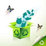 Green recycle Stock Images
