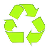 Green recycle. Symbols for recycle stuff Stock Photos