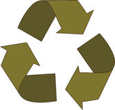 Green Recycle Arrows. Illustration of green recycle arrows Royalty Free Stock Images