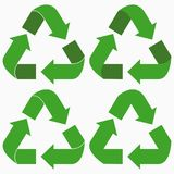 Green recycle arrows set. Vector. Green recycle arrows set. Vector illustration Stock Images
