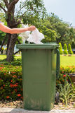 Green recycle bin Stock Image