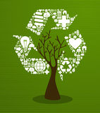 Green recycle concept tree Stock Image