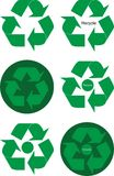 Green recycle elements Royalty Free Stock Photos