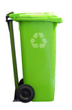 Green recycle garbage can Royalty Free Stock Photo