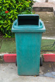 Green recycle garbage can Stock Image
