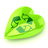 Green Recycle Heart Stock Photo