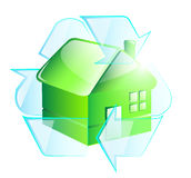 Green recycle house Royalty Free Stock Images