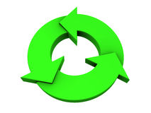 Green recycle logo Stock Photography