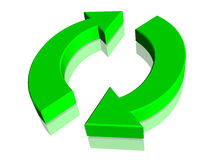 Green Recycle Recycling Symbol Sign Royalty Free Stock Image