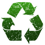 Green Recycle sign Stock Images