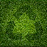Green recycle Sign Stock Photo